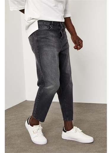 XHAN Bilek Boy Yıkamalı Kot Pantolon 1YXE5-45105-03 Gri
